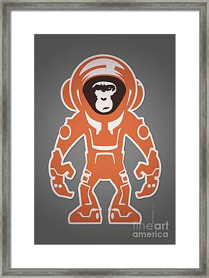 Monkey Crisis On Mars Framed Print by Monkey Crisis On Mars