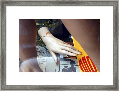 Monkey Hand Framed Print by Jez C Self