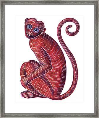 Monkey Framed Print by Jane Tattersfield
