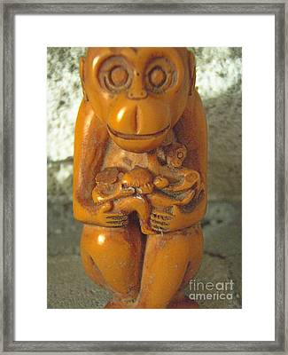 Monkey See Framed Print by Kristine Nora