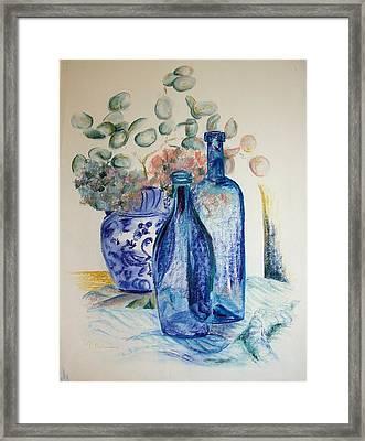 Monnaie Bleue Framed Print by Muriel Dolemieux