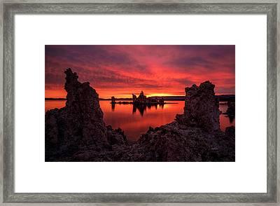 Mono Blaze Framed Print by Bjorn Burton