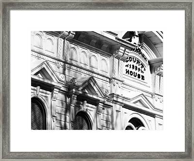 Mono County Courthouse Bridgeport Ca Framed Print by Troy Montemayor