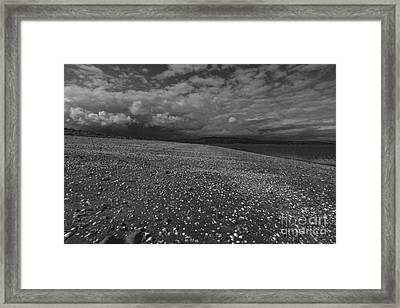 Mono Cunnigar Beach Framed Print