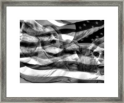 Mono Fathers Framed Print by Tingy Wende