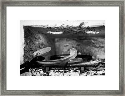 Mono Forge Framed Print