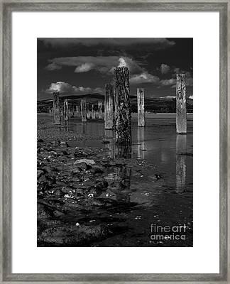Mono Groynes 3 Framed Print