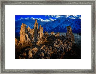 Framed Print featuring the photograph Mono Lake by Harry Spitz