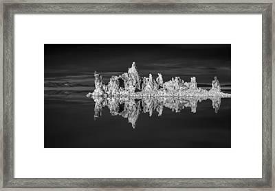 Mono Lake In Monochrome Framed Print