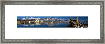 Mono Lake Pano Framed Print by Wes and Dotty Weber