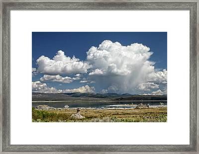 Mono Lake Summer Shower  Framed Print by Tom Kidd