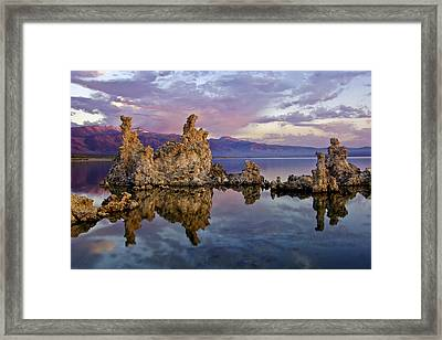 Mono Lake Sunset Framed Print by Dave Dilli