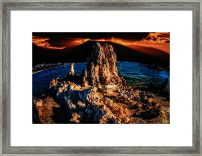 Framed Print featuring the photograph Mono Lake Sunset by Harry Spitz