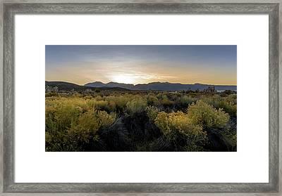 Mono Lake Sunset Framed Print by K Pegg