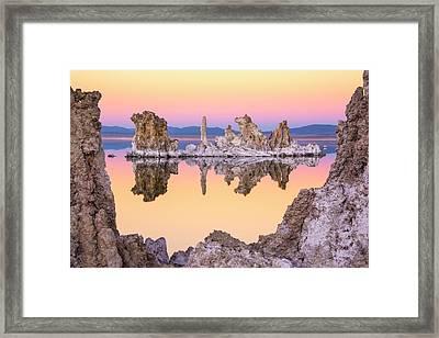 Mono Lake Through A Tufa Frame Framed Print