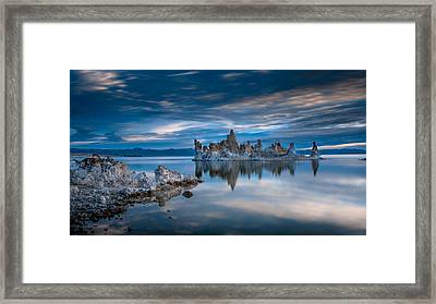 Mono Lake Tufas Framed Print by Ralph Vazquez