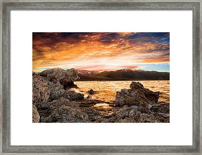 Mono Lake's Puddle Reflection Framed Print
