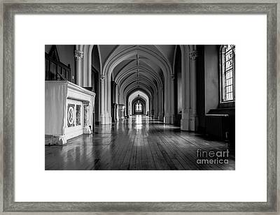 Mono Melleray Corridor Framed Print
