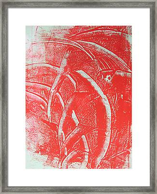 Mono Print 001 - Rotation Framed Print