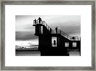 Mono Sunset Blackrock  Framed Print