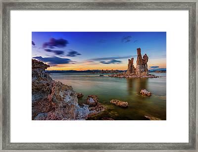 Mono Sunset Framed Print