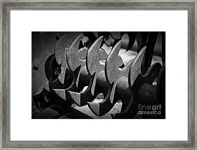 Monochrome Blades Framed Print