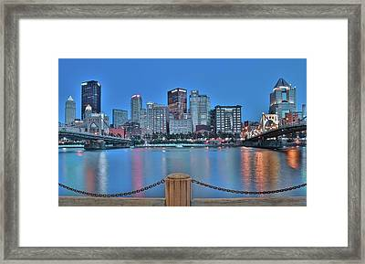 Monochrome Blue Framed Print