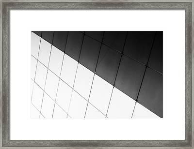 Monochrome Building Abstract 3 Framed Print