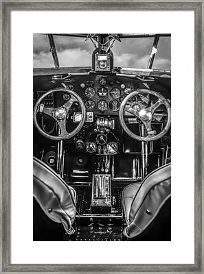 Monochrome Cockpit Framed Print