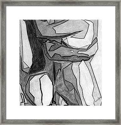 Monochrome Embrace Framed Print