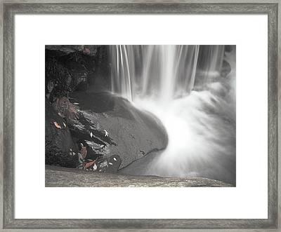 Monochrome Falls Framed Print by Jim DeLillo
