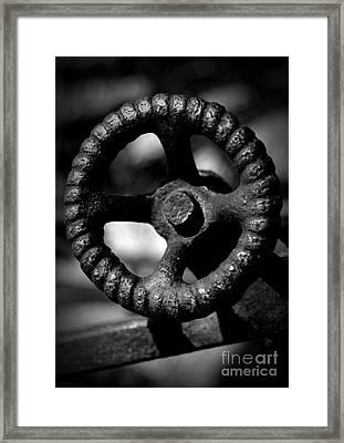 Monochrome Knob 2 Framed Print