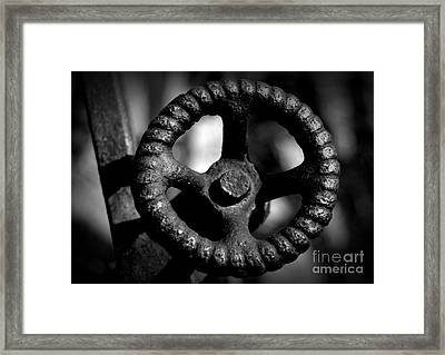 Monochrome Knob Framed Print