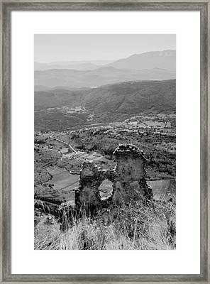 Monochrome Landscape From Italy  Framed Print by Andrea Mazzocchetti