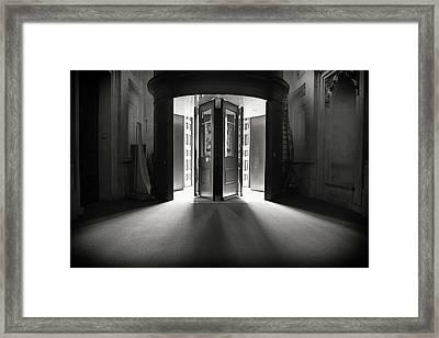 Dr. Who Framed Print by Monika Tymanowska