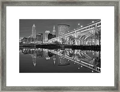 Monochrome Reflection Framed Print by Frozen in Time Fine Art Photography
