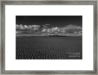 Monochrome Sand Ripples Framed Print
