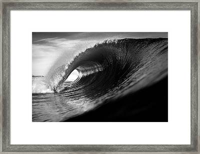 Monochrome Tube Framed Print