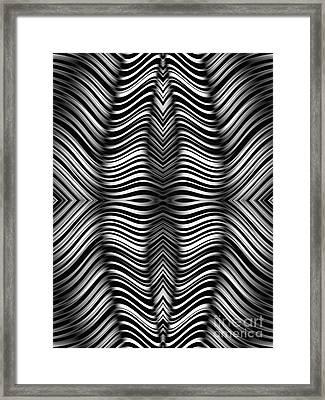Monochrome Zebra Framed Print