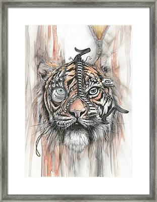 Monocle Eye Of The Tiger Framed Print