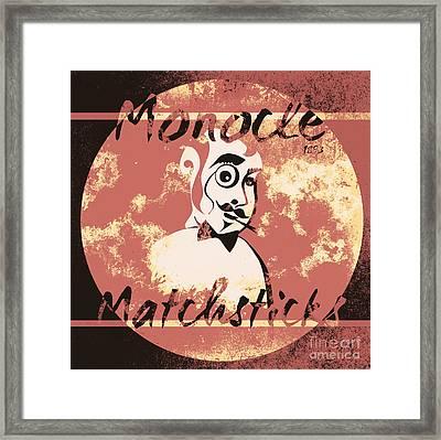 Monocle Matchsticks Vintage Tin Sign Advertising Framed Print