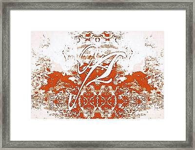 Monogram A - 0 - 12  Framed Print