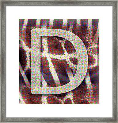 Monogram D Framed Print