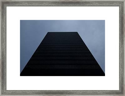 Monolith Framed Print by John Gusky