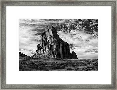 Monolith On The Plateau Framed Print by Jon Glaser