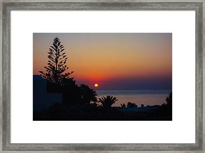 Monolithos Sunrise 2 Framed Print by Matti Ollikainen