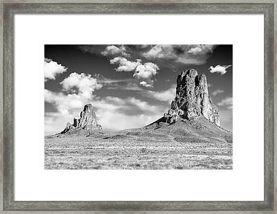 Framed Print featuring the photograph Monoliths by Jon Glaser