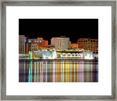 Monona Terrace Reflections Framed Print
