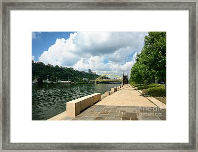 Monongahela Wharf Landing Pittsburgh Pennsylvania Framed Print