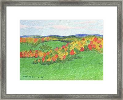 Monongalia County Autumn Framed Print by Harriet Emerson